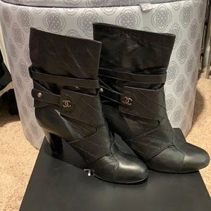 Vintage Chanel Lambskin Short Boots